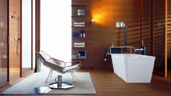 luxury bathroom design axo