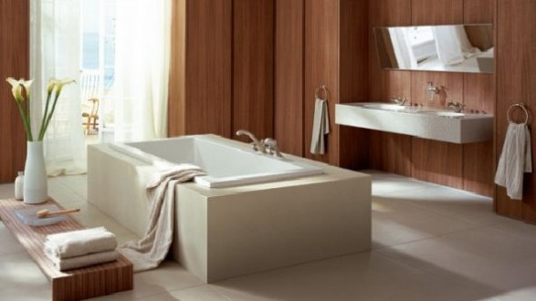 luxury White bathroom design axor