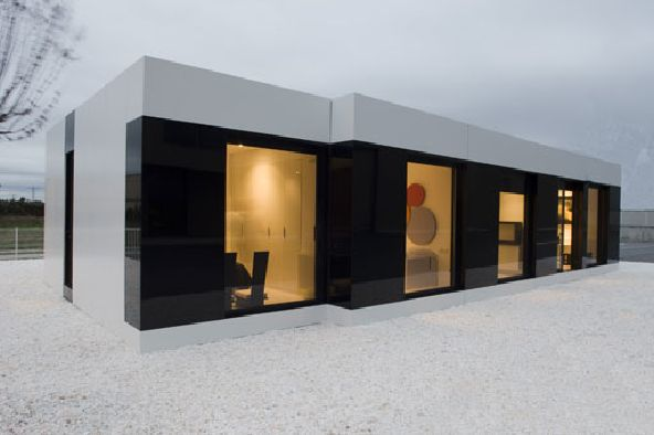 modular sleek white house design exterior