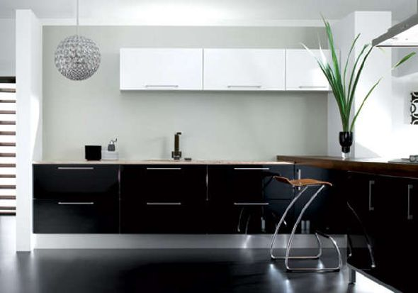 Small Black And White Kitchen Design Ideas