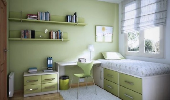 small space teen room