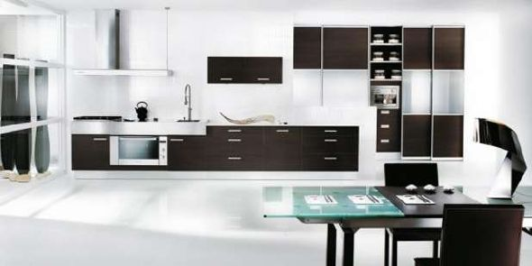 wood black and white kitchen design ideas