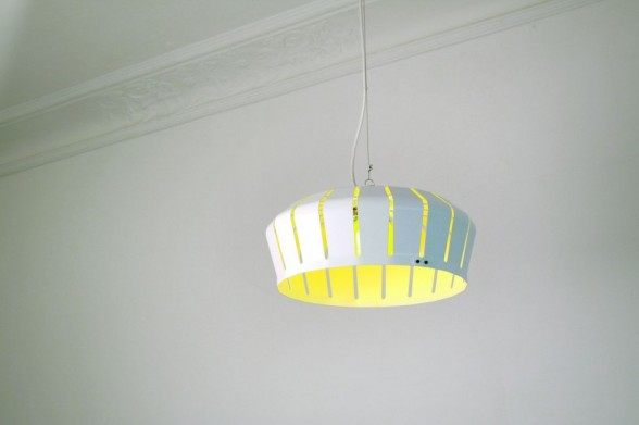 yellow crown pendant lamp by formfjord