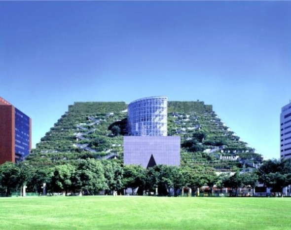 15 stepped terraces of the ACROS Fukuoka building, Japan-vertical garden