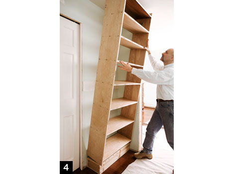 Build a Bookcase step4, How to Build a Bookcase: Step-by-Step Woodworking Plans