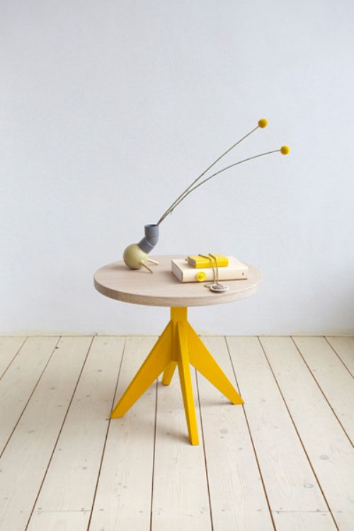 Casual Coffee Tables With Colorful Legs made of natural wood and hand-made design (3)