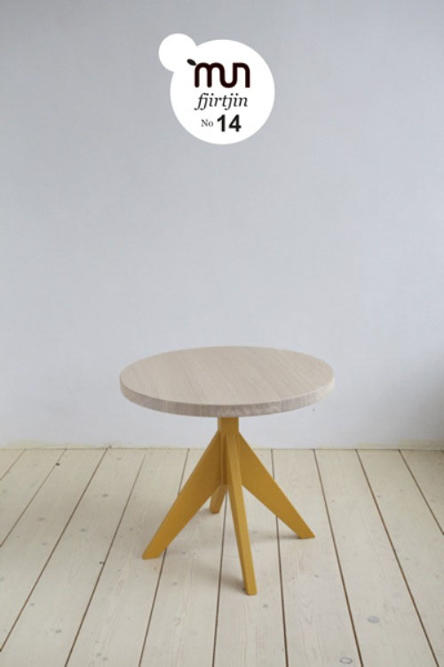 Casual Coffee Tables With Colorful Legs made of natural wood and hand-made design (4)