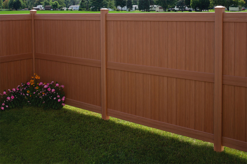 CertaGrain Texture to Galveston Privacy Fence