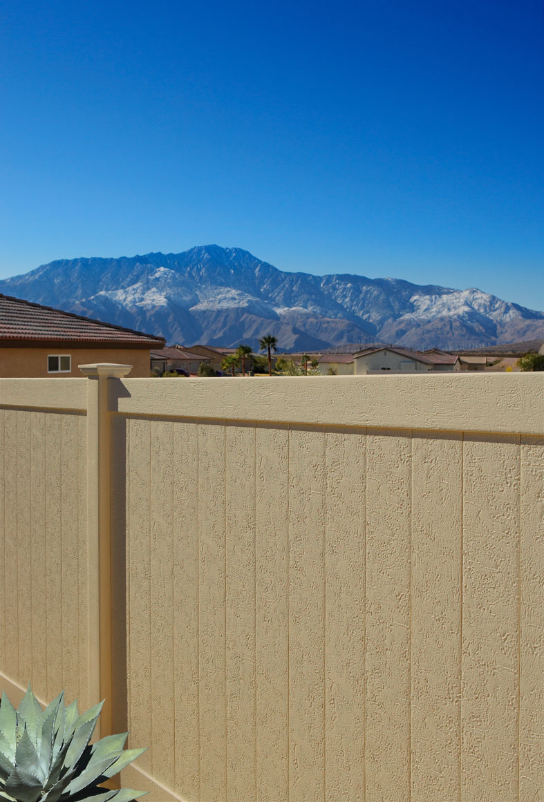 CertainTeed Almond Color Vinyl Privacy Fence