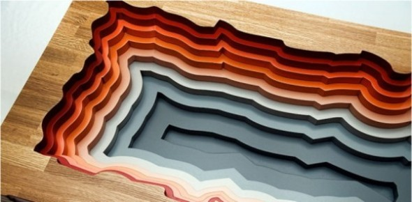 Colorful Contour of Vulcano Fire Place