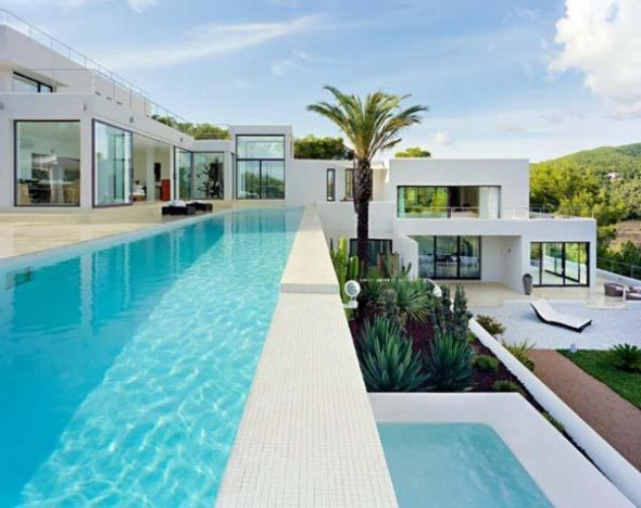 Combination of Modern and Mediterranean Design of Perfect Ibiza Residence-swimming pool