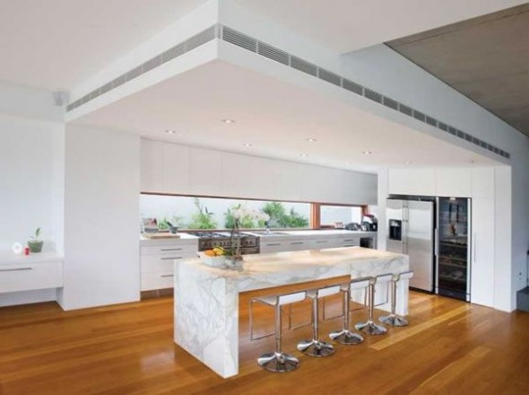 Contemporary Riverfront Residence with Contemporary Home Design Ideas-small kitchen