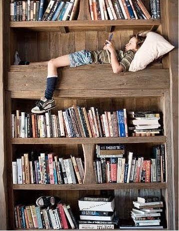 Everyone needs a place to read-shelf with a reading nook