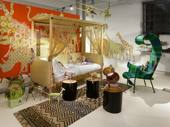 Fun safari style childrens room school design and kids room