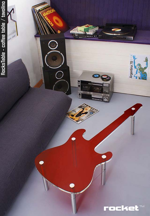 Funky Home Decor Fun Accessories Guitar table Design
