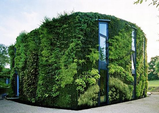 House with Vertical Garden by Samyn and Partners