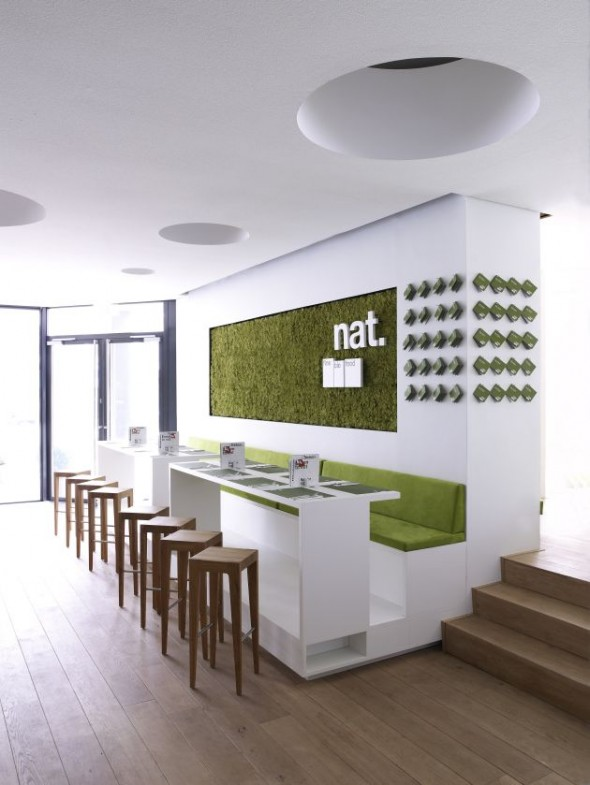 Interior Restaurant Nat Fine Bio Food with a contemporary environment