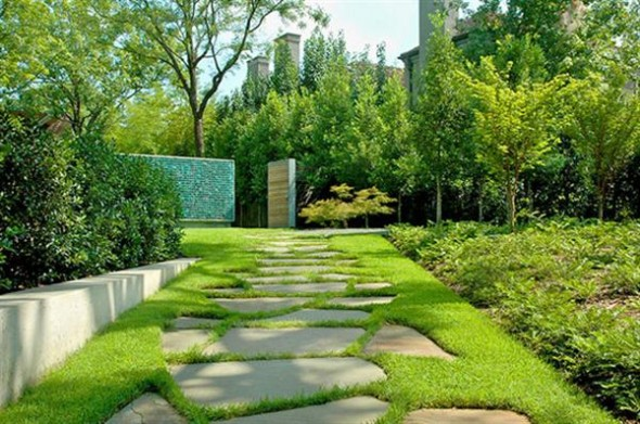 Modern and Soothing Green Landscape