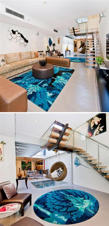 Amazing Blue Carpet and Furniture