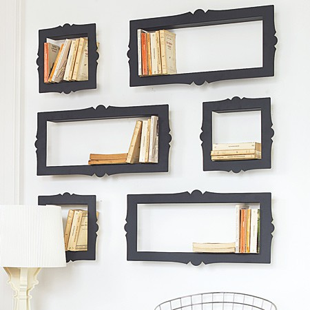 Picture Frame Book Shelves-shelf with a reading nook