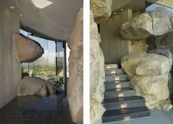 The Elrod House by John Lautner vertical stone from The Bond's Movie