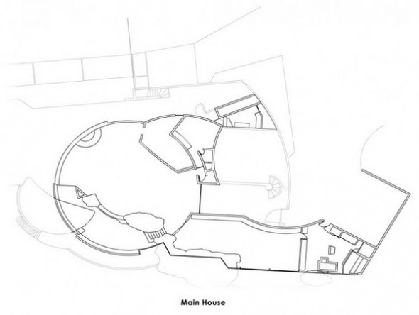 The Elrod main house plans from The Bond's Movie