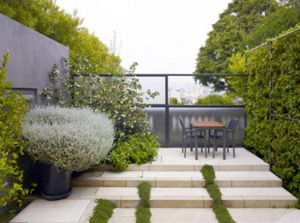 The Modern Landscape with Simple Furniture