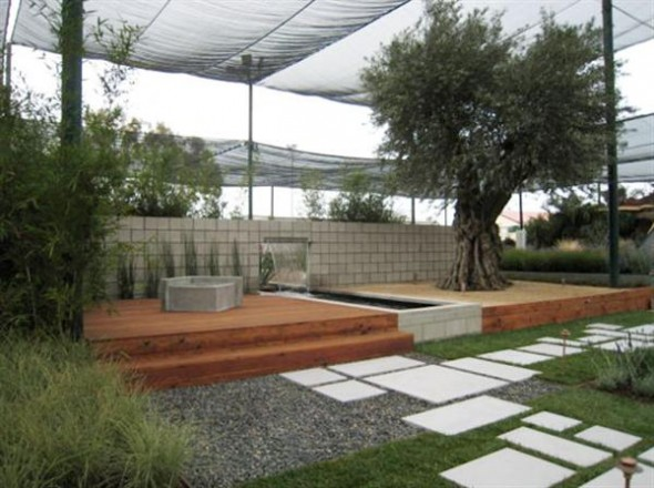The Modern Landscape with White Ceramic Pathway