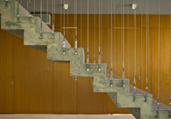 The Staircase On Modern Square House