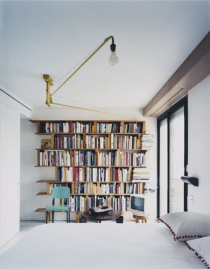 a little light bedtime reading-shelf with a reading nook