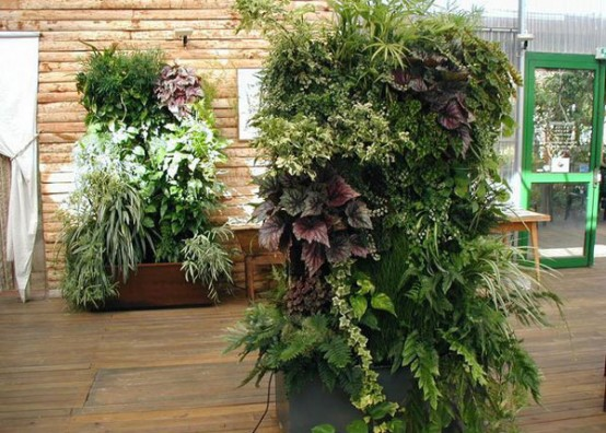 best green house with vertical gardens