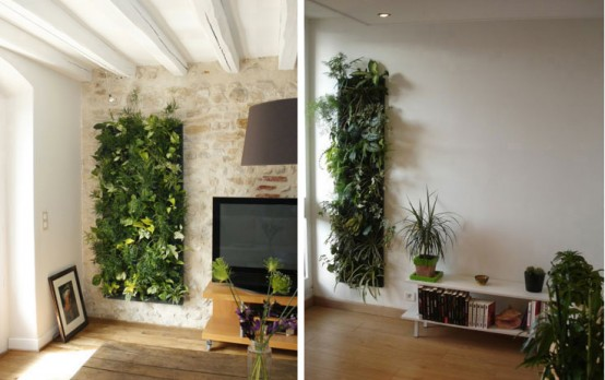 green house with vertical gardens
