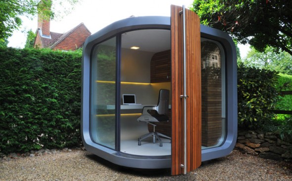 outdoor officePOD view, Amazing Outdoor office POD