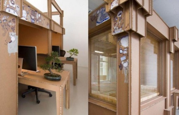 the office was made without glue or nails