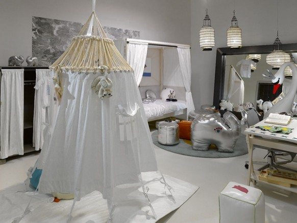 white moroccan style room school design and kids room