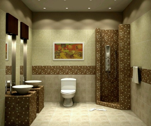 Creative Stylish and Elegant Small Bathroom