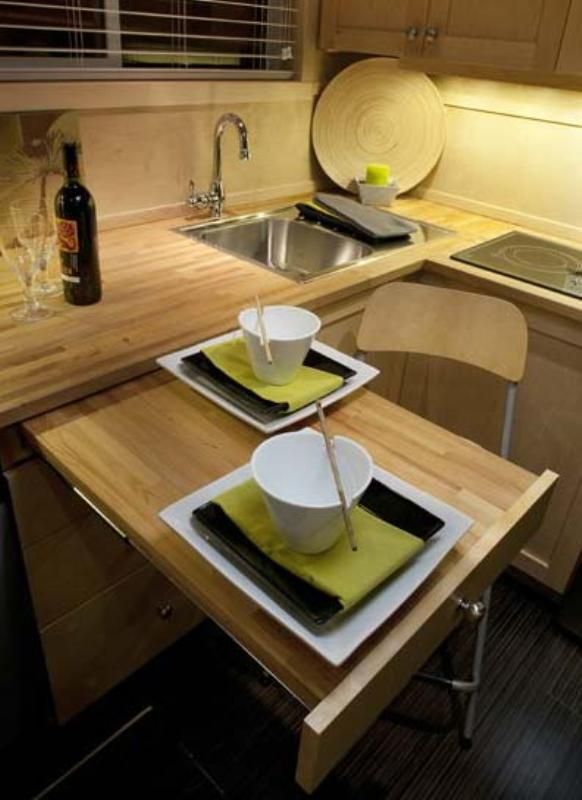 Cube Shaped Small House-kitchen