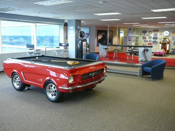 Great 1965 ford mustang pool table