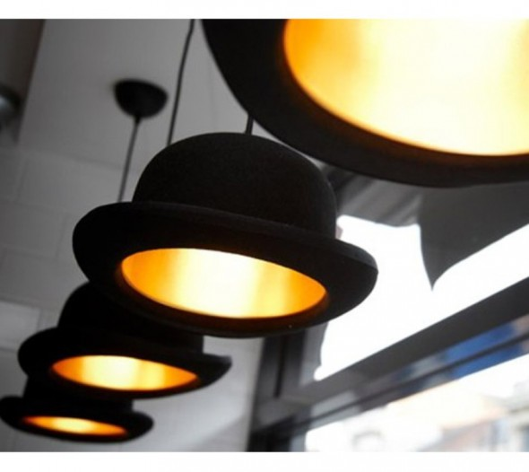 Pendant lights - authentic bowler hats by jakephipps
