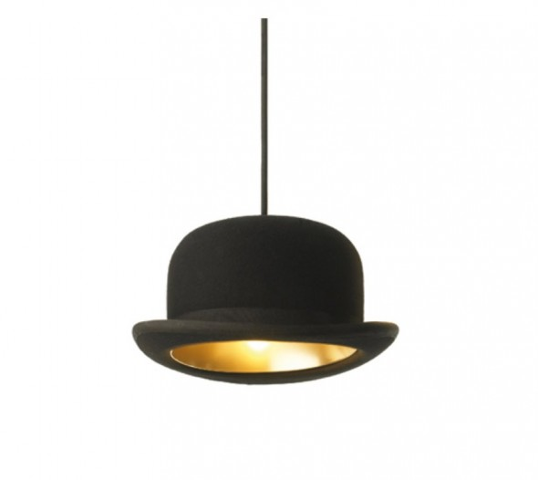 Pendant lights made from authentic bowler hats by jakephipps
