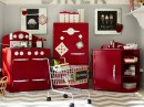 Red Retro Kitchen by Pottery Barn
