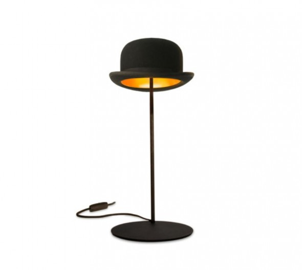 Table lights made from authentic bowler hats by jakephipps