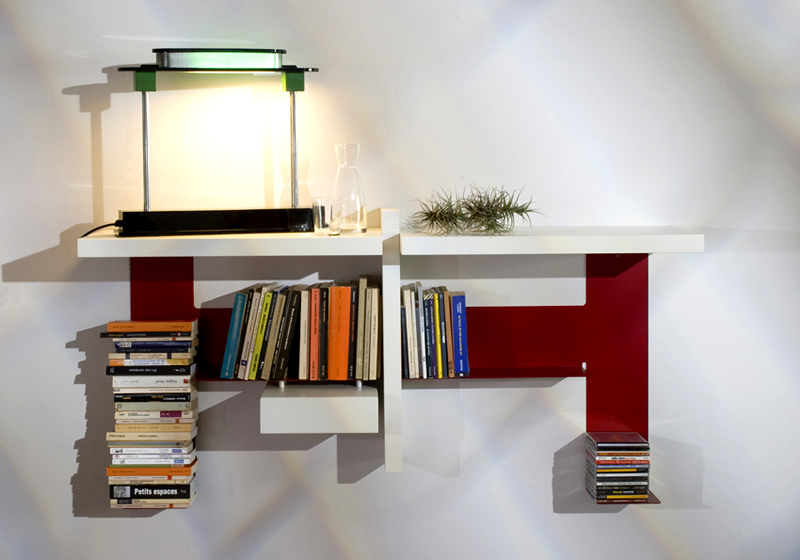 Wall Shelf Storage TEEbooks Mauro Canfori