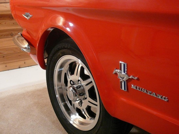 red-1965 ford mustang pool table