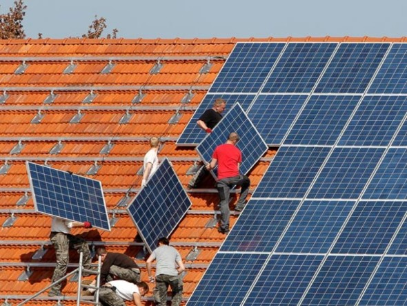solar panel roofing instalation-Technology at Home