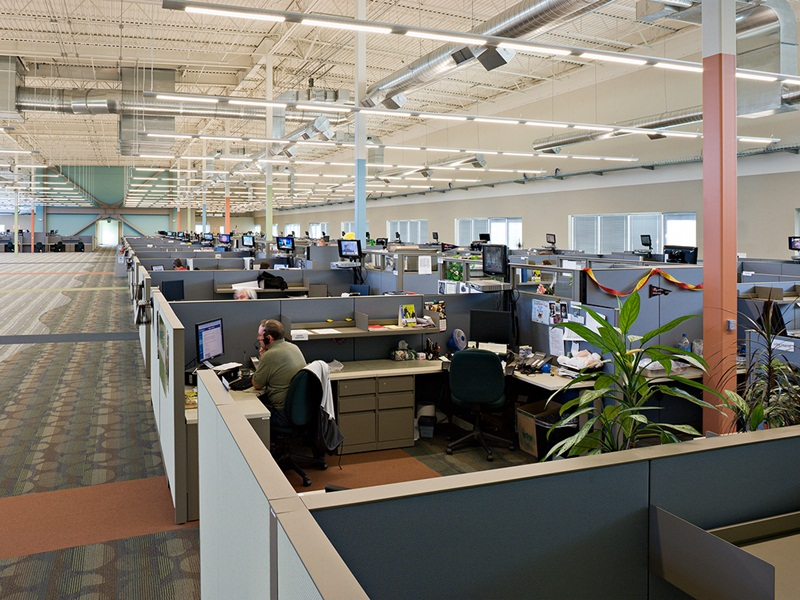 Comcast Office Seattle Call center floor