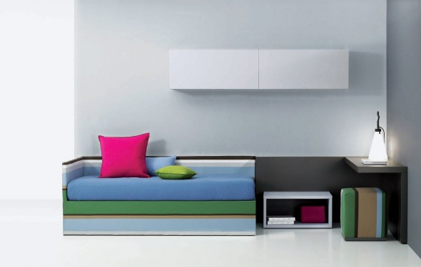 Contemporary Teen Bedroom Decor Ideas by Carlos Tiscar with colorfull