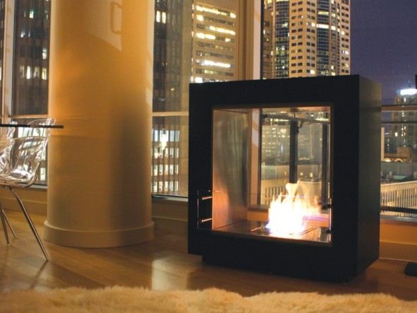 Cool Fireplace Design by EcoSmart