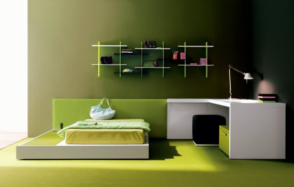 Green Bedroom Decor Ideas by Carlos Tiscar