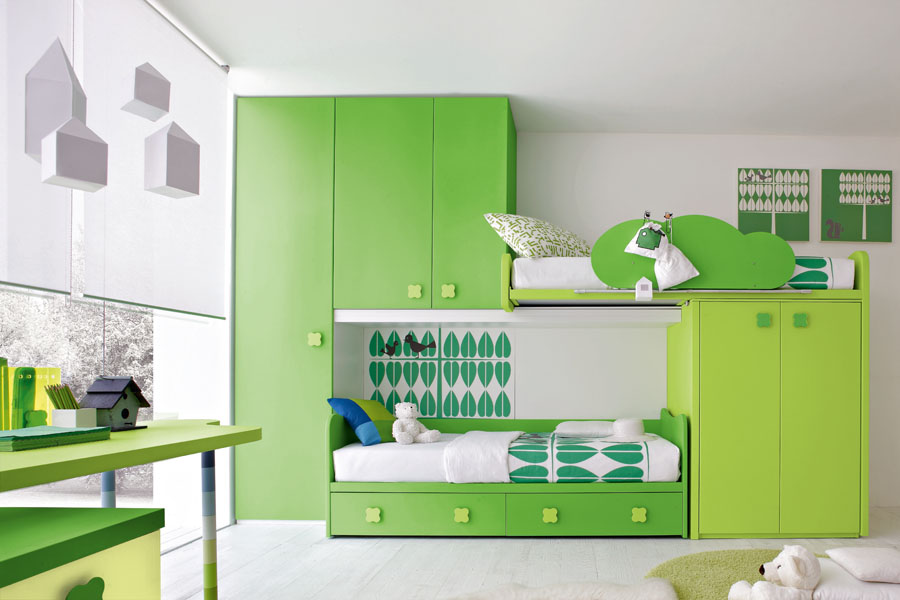 Green Kids Bedroom By Stemik Living